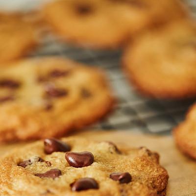 自制的,巧克力脆饼,巧克力脆片,清新,食品,甜点心,甜食,不健康食物,厨房,静物