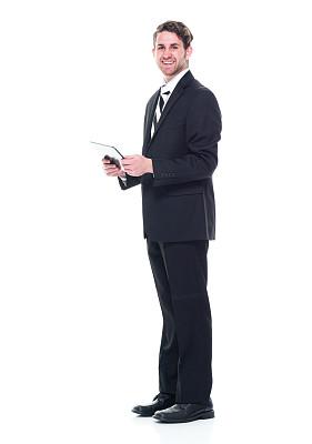 经理,一个人,青年女人,20到29岁,全身像,注视镜头,幸福,人,商务人士,男商人