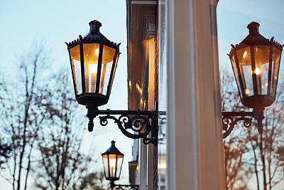 照明设备,雾,让,伦敦城,华丽的,旅途,灯笼,部分,古董,古典式