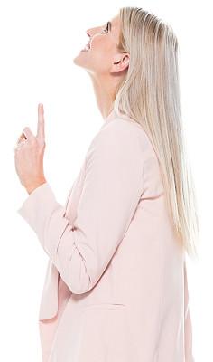 半身像,商务人士,女商人,女性,成年的,长发,一个人,青年女人,20到29岁,金色头发
