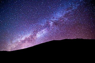 天空,特内里费岛,夜晚,加那利群岛,宏伟,银河系,西班牙,股票,皮可德泰德山,摄影