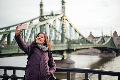 布达佩斯,女人,旅行者,旅途,交换生,匈牙利,技术,探险家,户外,仅女人