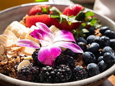 什锦烤燕麦片,早餐,水果,碗,有机食品,肉,菜单,健康食物,饮食,膳食