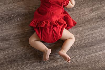 腿,婴儿,圣诞装饰物,女婴,肖像,色彩鲜艳,童年,欢乐