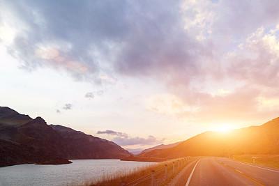 汽车,风景,路,地形,旅游目的地,概念,旅途,沥青,运动,云
