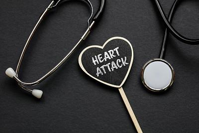 听诊器,文字,心脏病发作,黑色背景,健康保健,专业人员,医学检测,背景分离,药,医疗器械