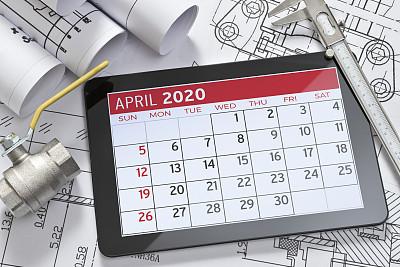 数字化显示,平板电脑,显示器,日历,2020,商务,电子记事本,工程师,技术,工程