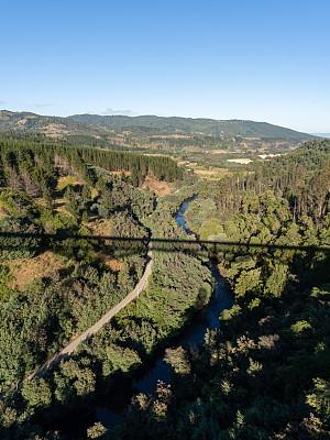 河流,阿劳卡尼亚大区,山谷,清新,环境,阴影,户外,天空,高处,晴朗