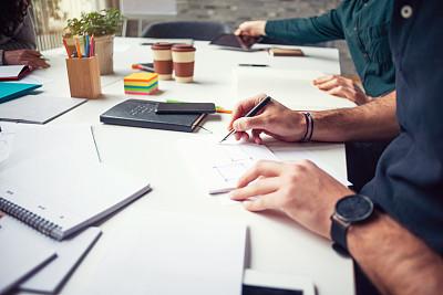 脑风暴,文书工作,体育团队,新的,专业人员,技术,忙碌,办公室,新创企业,商务人士