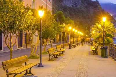 意大利,居住区,世界遗产,浪漫,黄昏,梯田,地中海,户外,建筑,欧洲