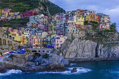 意大利,居住区,世界遗产,浪漫,黄昏,公园,梯田,地中海,户外,建筑