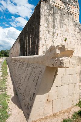 契晨-伊特萨,雕塑,玛雅文明,国际著名景点,云景,世界遗产,云,墨西哥,古董,尤卡坦半岛