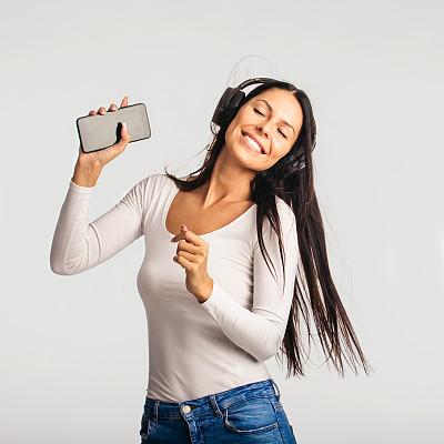 舞蹈,影棚拍摄,女性,音乐,青年人,自然美,肖像,技术,欢乐,仅女人