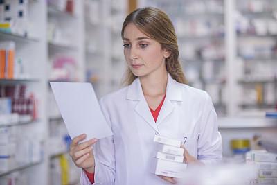 药剂师,架子,手,羊毛帽,土耳其,医药职业,药,避孕药,技术,药丸