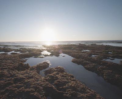 加利福尼亚,海滩,都市风光,南加利福尼亚,自然美,潮水坑,海岸线,波浪,岩石,夏天
