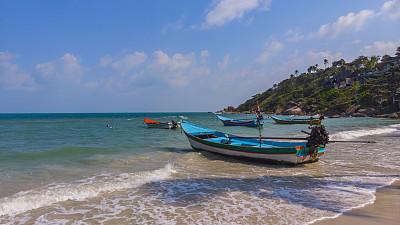 泰国,无人机,海岸线,沙子,帕安岛,海滩,航拍视角,汤匙,平衡折角灯,旅游