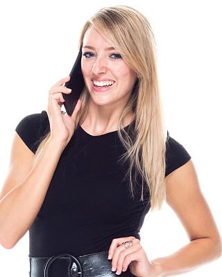 智能手机,女商人,青年女人,连衣裙,衣服,白色人种,专业人员,商业金融和工业,拿着,仅女人