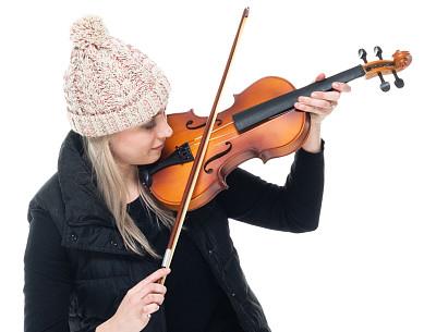 裤子,小提琴,女性,小提琴手,拿着,白色人种,衣服,毛衣,背景分离,长袖衫
