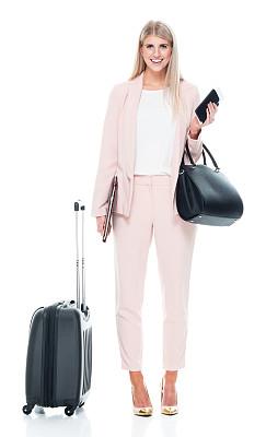 马尼拉文件夹,拿着,智能手机,商务人士,女性,正装,衣服,白色人种,站,做