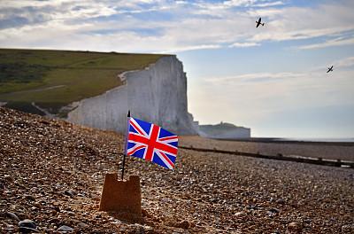 英国,海滩,肯特岛,英格兰,人种,不列颠之战,飞机,海岸线,鹅卵石,夏天