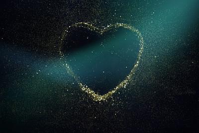 请柬,贺卡,暗色,热情,边框,浪漫,情人节卡,亮片,星系,情人节
