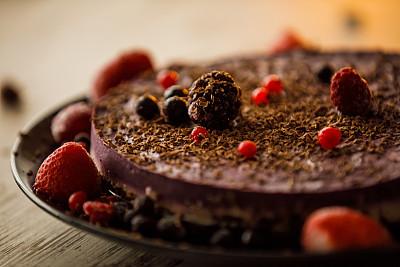 蛋糕,面粉,拒绝,奶制品,糖,素食,背景分离,食品,环境保护,浆果
