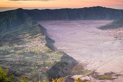 风景,背景,火山,婆罗摩火山,塞梅鲁火山,早晨,东,少量物体,名声