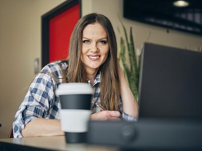 办公室,现代,女人,开着的,专业人员,肖像,技术,商业金融和工业,工作
