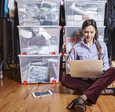 计算机,商务,专门技术,专业人员,一个人,技术,沟通,坐,联系