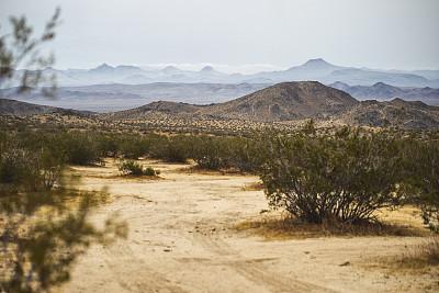 加利福尼亚,夏天,扎布里斯基角,气候,旅途,热,山脊,沙岩,沙漠,自然荒野区
