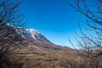 自然美,山脉,冬天,地形,寒冷,雪山,环境,云,霜,雪