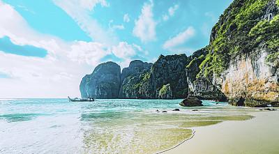 泰国,海滩,岛,鸡尾酒,热带气候,逃避现实,自然美,海岸线,波浪,热带树