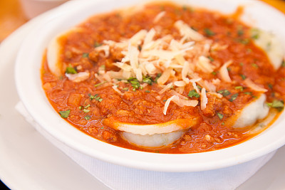 意大利馄饨,清新,香料,肉酱,食品,餐具,意大利食品,奶酪,肉,健康食物