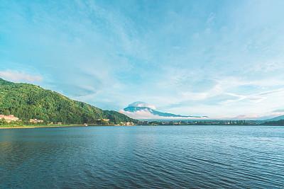 富士河口湖,日本,河口湖,云景,世界遗产,云,黄昏,色彩鲜艳,富士山,乡村风格