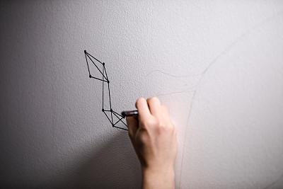 艺术家,男性美,线条,现代,涂料,住宅内部,想法,欢乐,业余爱好