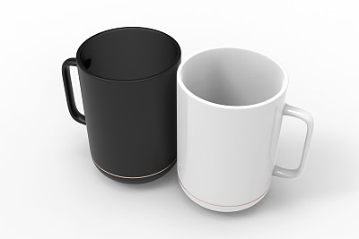 马克杯,留白,正下方视角,轻蔑的,黑白图片,白色背景,分离着色,饮料,茶,含酒精饮料