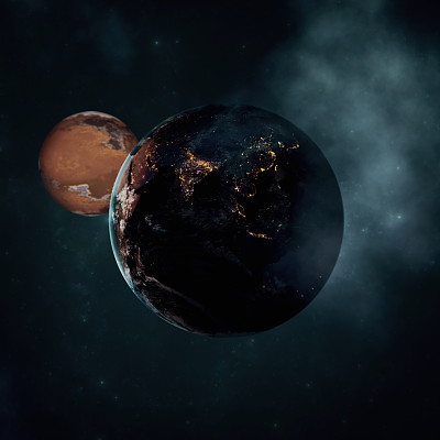 星系,太空视角,星星,地球,太空船,暗色,土耳其,空间探索,飘然,黄昏