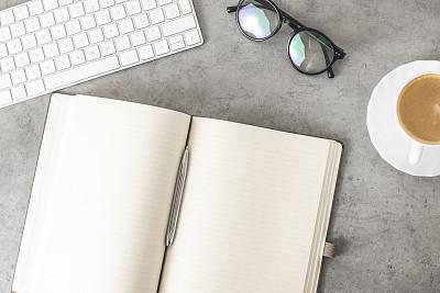 办公室,书桌,咖啡杯,信函,技术,卡布奇诺咖啡,现代,商业金融和工业,忙碌,混凝土