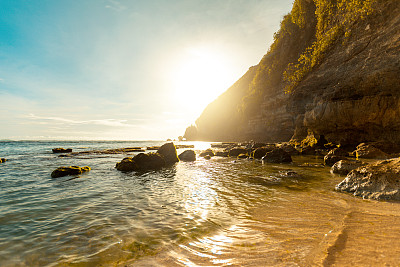 洗神仪式,海滩,云景,云,公路,户外,混凝土,印度尼西亚,自然,风景