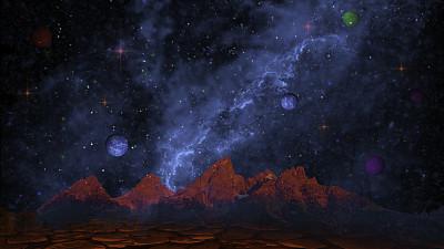 太空,未来,幻想,行星,星云,外星人,都市风光,山脉,平衡折角灯