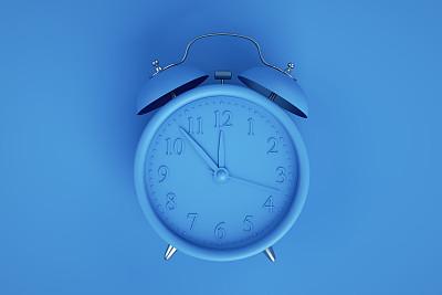 闹钟,蓝色,蓝色背景