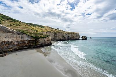 隧道,海滩,新西兰南岛,新西兰,达尼丁