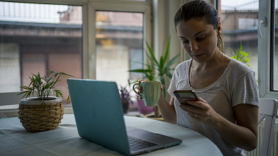 女人,家庭办公,电子邮件,专业人员,部分,土耳其,技术,现代,坐,联系