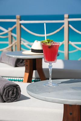 鸡尾酒,周末活动,华贵,热带气候,印度洋,院子,水果,户外,木制,度假