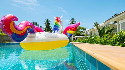 度假胜地,独角兽,游泳池,平衡折角灯,充气品,华贵,热带气候,玩具,塑胶,气垫床
