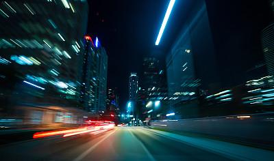 夜晚,旅途,沥青,汽车,交通,环境,迅速,黄昏,佛罗里达,林荫路