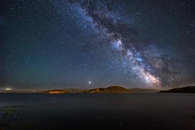 中国,银河系,自然美,桨叉架船,平原,在上面,暗色,运动,空间探索,环境保护