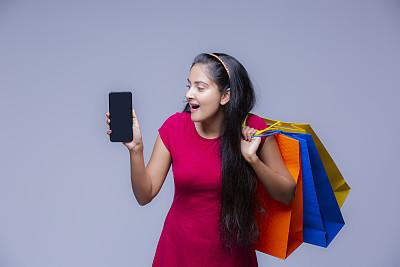 女孩,幸福,股票,概念,背景聚焦,仅一个女孩,零售,购买,摄影,促销