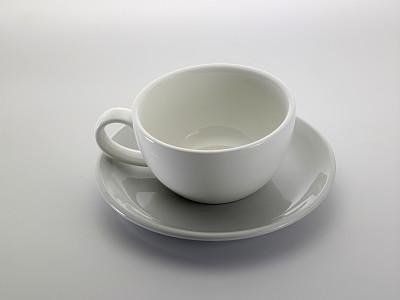 杯,茶碟,饮料,茶,热,空的,清新,背景分离,咖啡杯,茶杯
