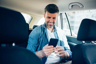 出租车,男人,在活动中,旅途,汽车内部,汽车,仅男人,技术,仅一个男人,仅一个中年男人